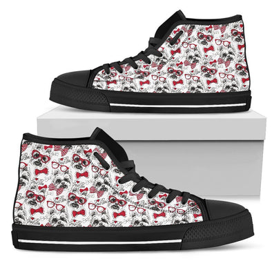 Women's Yorkshire Terrier High Top Shoes - AroMama Essentials