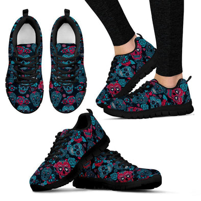 Women's Sugar Skulls II Sneakers - AroMama Essentials