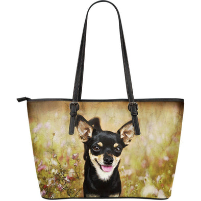 Chihuahua Large Leather Tote Bag - AroMama Essentials