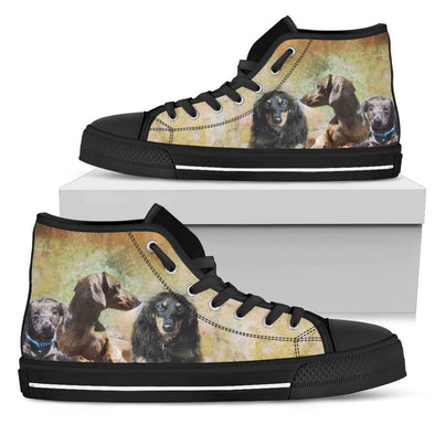 Women's Dachshund High Top Shoes - AroMama Essentials
