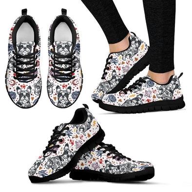 Women's French Bulldog Sneakers - AroMama Essentials