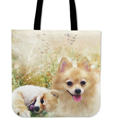 Lovely Pomeranian Cloth Tote Bag