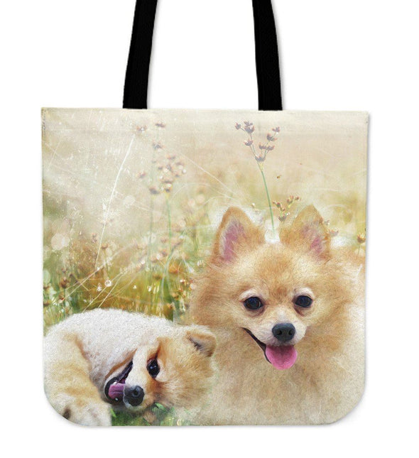 Lovely Pomeranian Cloth Tote Bag - AroMama Essentials