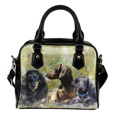 Dachshund Shoulder Handbag - AroMama Essentials