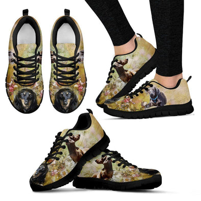 Women's Dachshund Sneakers - AroMama Essentials