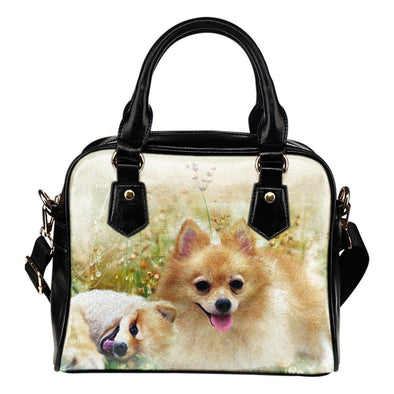 Lovely Pomeranian Shoulder Handbag - AroMama Essentials