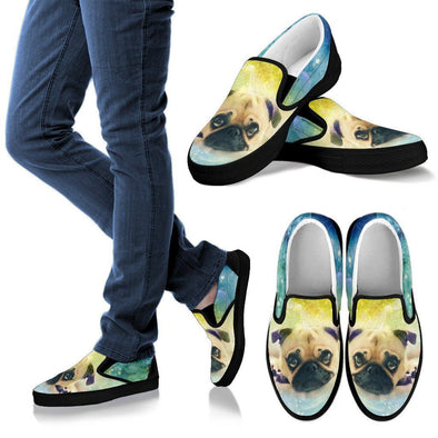 Women's Colorful Pug Slip-On - AroMama Essentials
