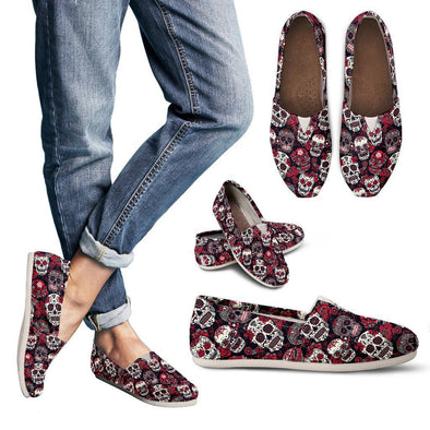 Women's Classic Sugar Skulls Casual Shoes - AroMama Essentials