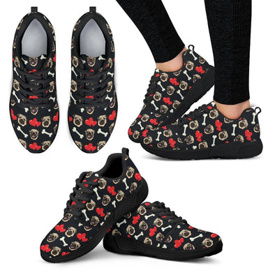 Women's Pug Pattern Athletic Sneakers - AroMama Essentials