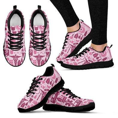 Nurse Pink Tools Women's Sneakers