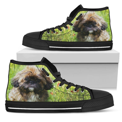 Women's Shih Tzu Lovers High Top Shoes - AroMama Essentials