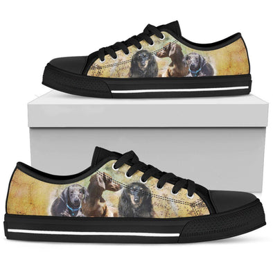 Women's Dachshund Low Top Shoes - AroMama Essentials
