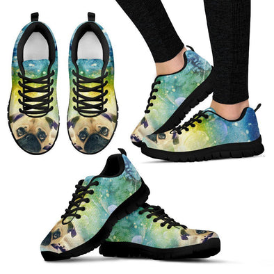 Women's Colorful  Pug Sneakers - AroMama Essentials