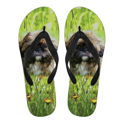 Women's Shih Tzu Lovers Flip Flops - AroMama Essentials
