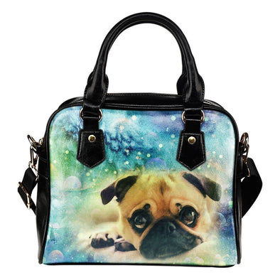 Colorful Pug Shoulder Handbag - AroMama Essentials