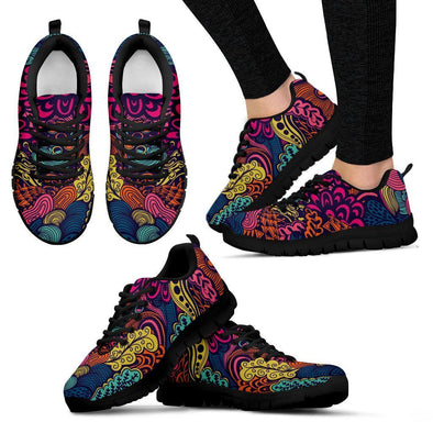 Women's Psychedelic Sneakers - AroMama Essentials