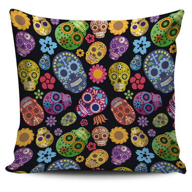 Sugar Skulls Throw Pillow Case - AroMama Essentials