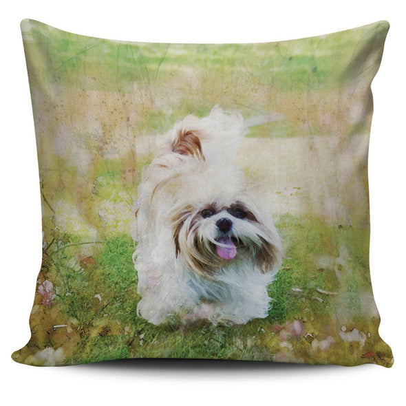 Shih Tzu Throw Pillow Case - AroMama Essentials