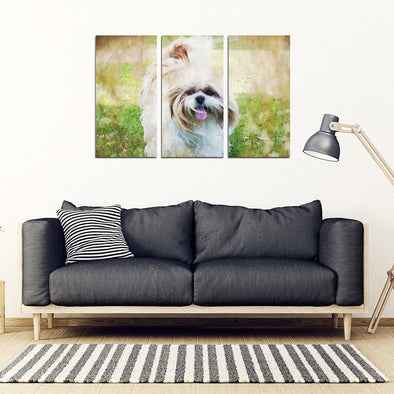 Shih Tzu 3 Piece Framed Canvas - AroMama Essentials