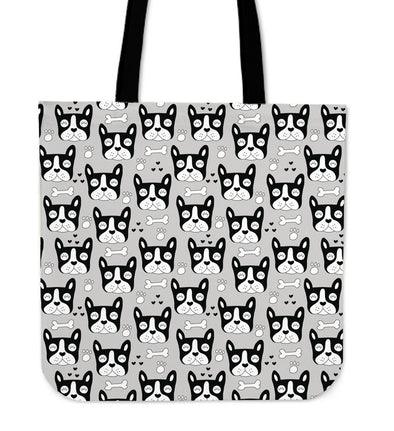 French Bulldog Pattern Cloth Tote Bag - AroMama Essentials