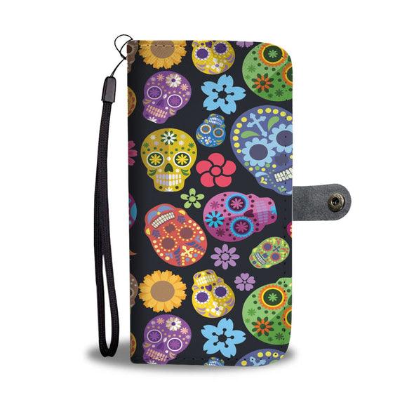 Sugar Skulls Wallet Phone Case - AroMama Essentials