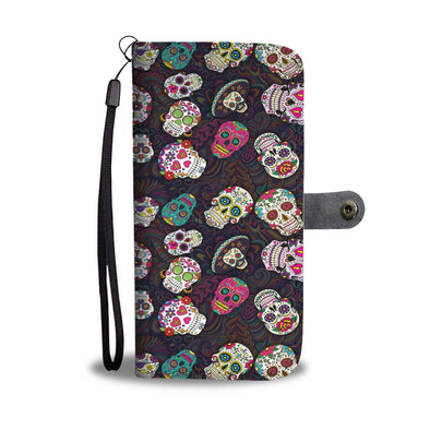 Trendy Sugar Skulls Wallet Phone Case - AroMama Essentials