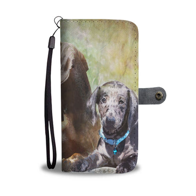 Dachshund Wallet Phone Case - AroMama Essentials