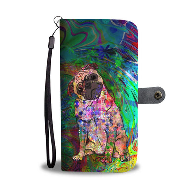Psychedelic Pug Wallet Phone Case - AroMama Essentials