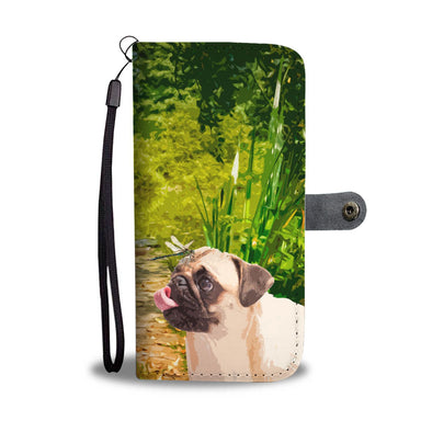 Happy Pug Wallet Phone Case - AroMama Essentials