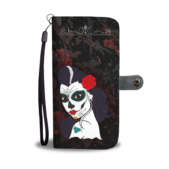 La Calavera Catrina Wallet Phone Case - AroMama Essentials