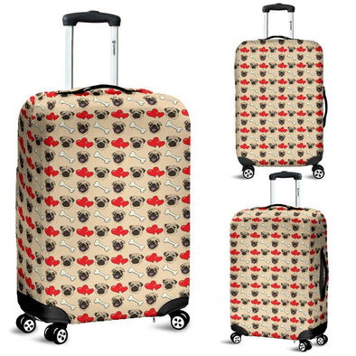 Pug Pattern Luggage Cover (Tan) - AroMama Essentials