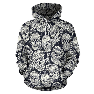 a0877d27bef3 Classic Sugar Skulls Hoodie (B W) for only  50.95 FREE Shipping ...