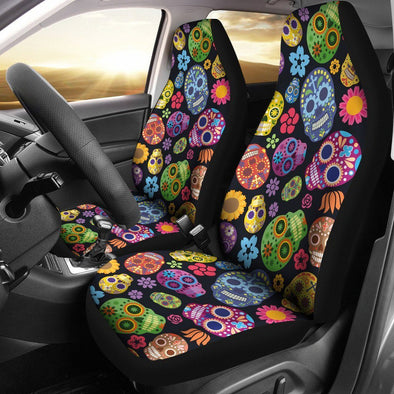 Sugar Skulls Car Seat Cover (Set of 2) - AroMama Essentials