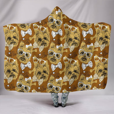 Yorkshire Terrier Hooded Blanket (Gold) - AroMama Essentials