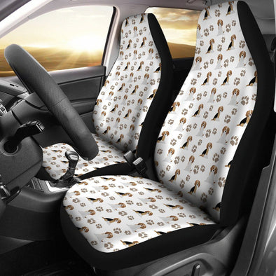 Beagle Car Seat Cover (Set of 2) (White) - AroMama Essentials