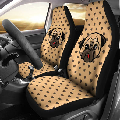 Pug Car Seat Cover (Set of 2) - AroMama Essentials