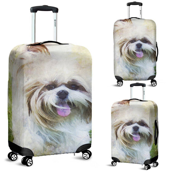 Shih Tzu Luggage Cover - AroMama Essentials
