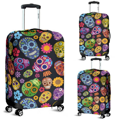 Sugar Skulls Luggage Cover - AroMama Essentials