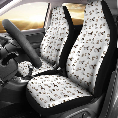 St. Bernard Car Seat Cover (Set of 2) (White) - AroMama Essentials