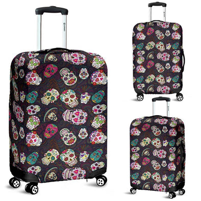 Trendy Sugar Skulls Colorful Luggage Cover - AroMama Essentials