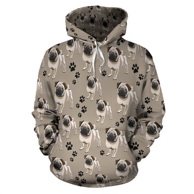 Cute Pug Pattern Hoodie - AroMama Essentials