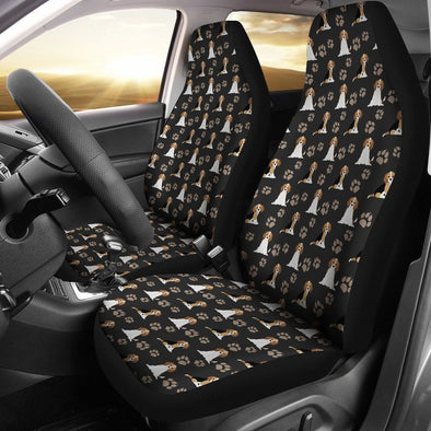 Beagle Car Seat Cover (Set of 2) (Black) - AroMama Essentials