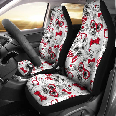 Yorkshire Terrier Car Seat Cover (Set of 2) (White) - AroMama Essentials