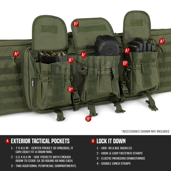 "American Classic 42"" - Double Rifle Case"