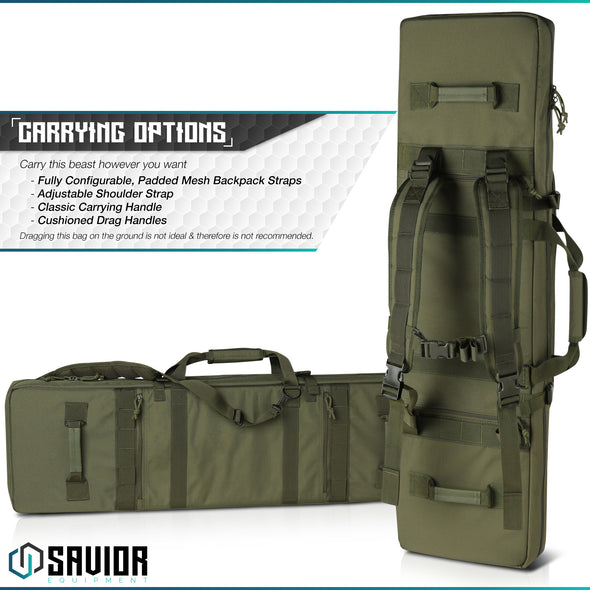 "Urban Warfare 42"" - Double Rifle Case"