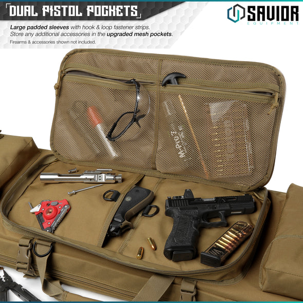 "Urban Warfare 55"" - Double Rifle Case"