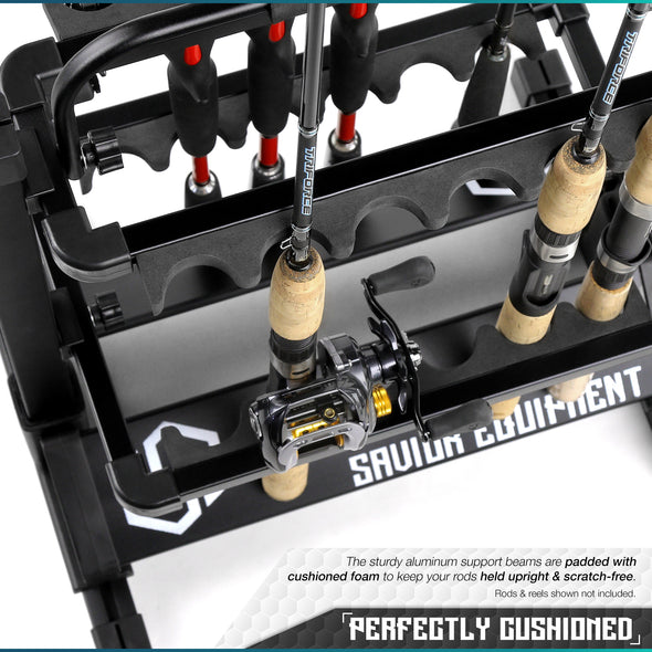 Aluminum Fishing Rod Rack - 12