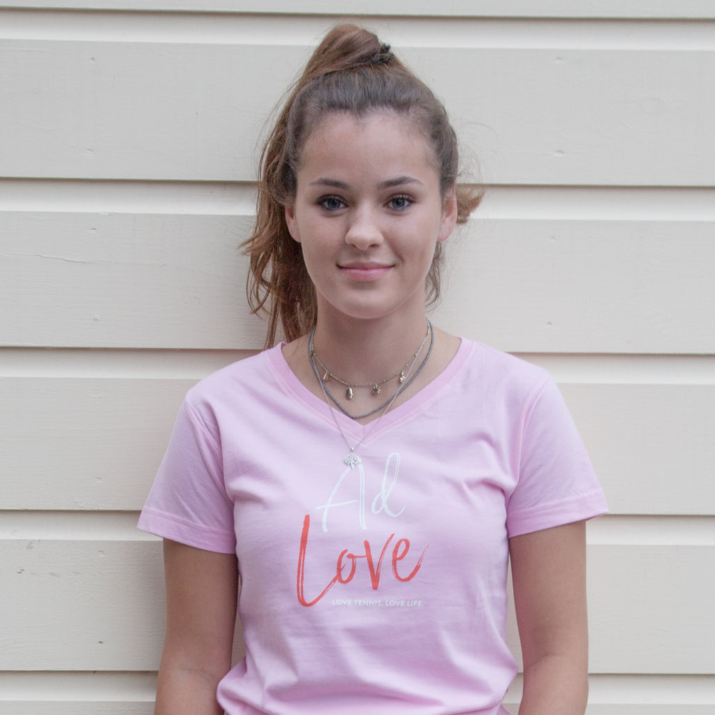 Women's Script AD LOVE V-neck T