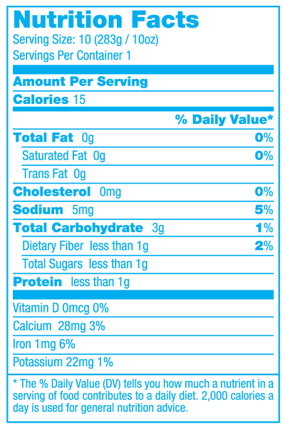 Merbabe Nutritional Facts Montauk Juice Factory