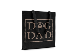 DOG DAD Collection - Black Tote Bag (beige letters) -- Wear Pet